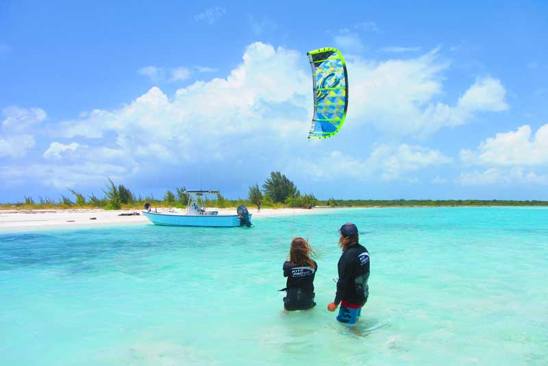 Kiteboarding in the Lagoon
